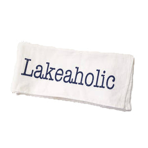 Lakeaholic Tea Towel