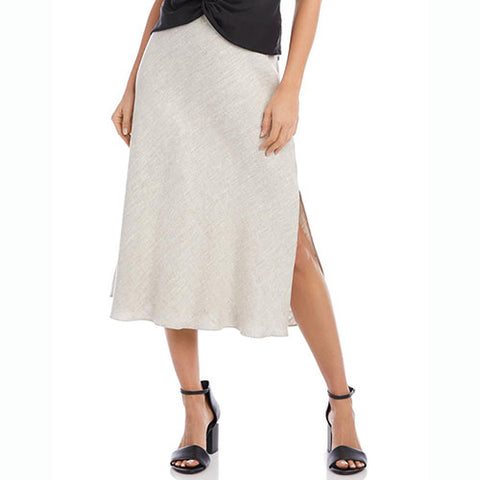 Linen Bias Cut Skirt