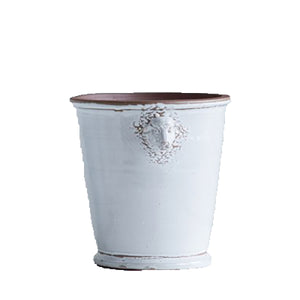 Terra Cotta white Planter with Lamb Heads
