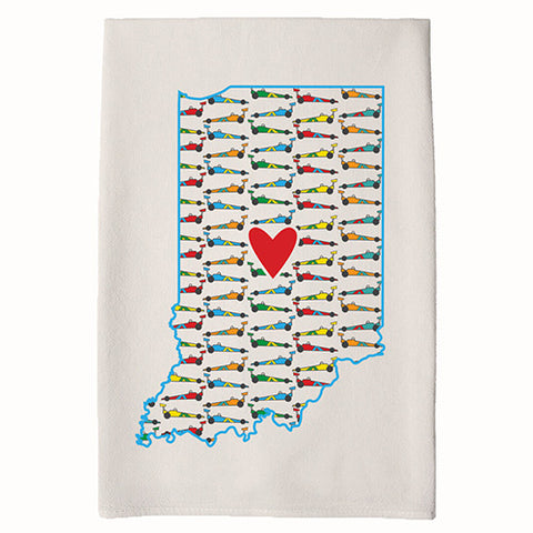 Race Car Home Town Hand Towel