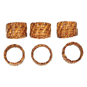 Hand Woven Rattan Napkin Rings