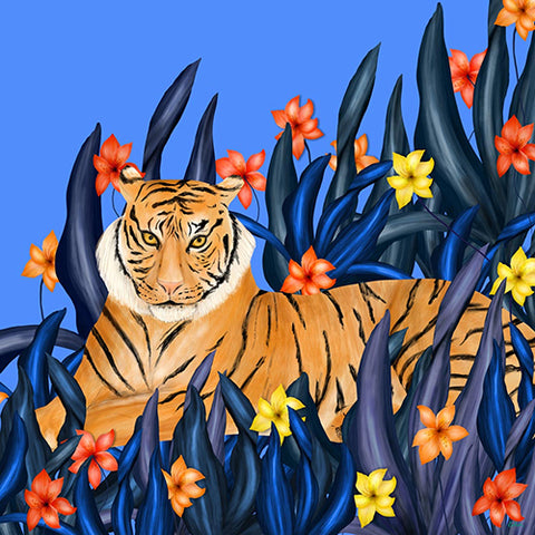 Tiger in Grass Multi Color