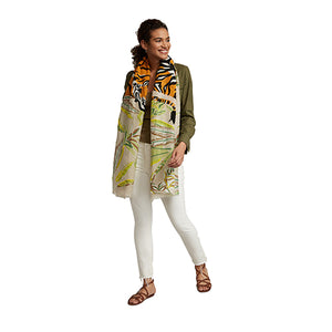 Sand Tropical Tiger Pareo Wrap