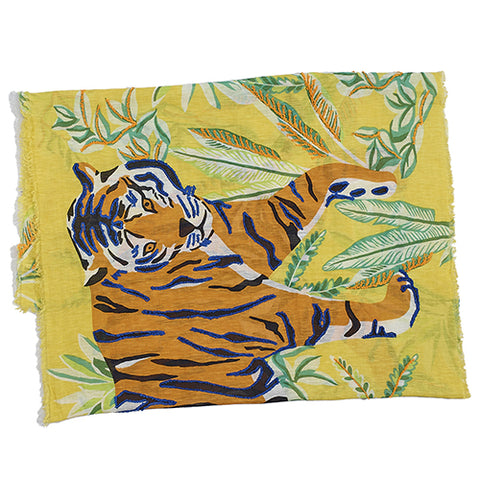 Yellow Tropical Tiger Pareo Wrap