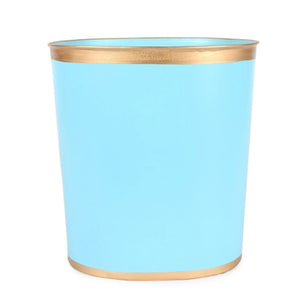 Color Block Oval Waste Basket