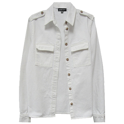 White Button up Shirt Jacket