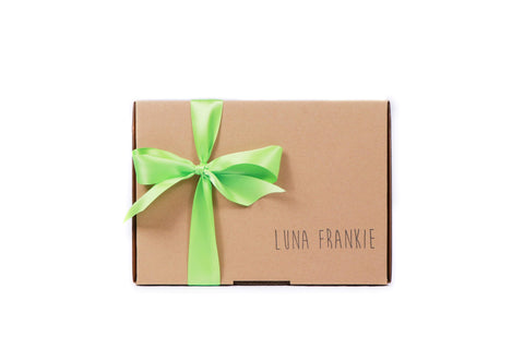 make your own gift box - lime green