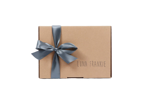make your own gift box - silver grey