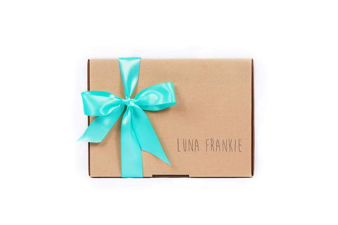 make your own gift box - aqua