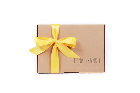 make your own gift box - yellow