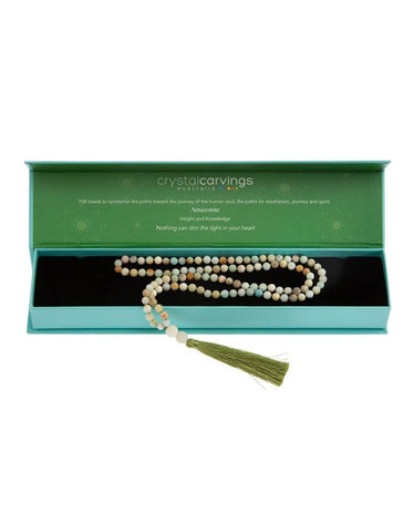 Mala Bead Amazonite 108 Tassel Necklace