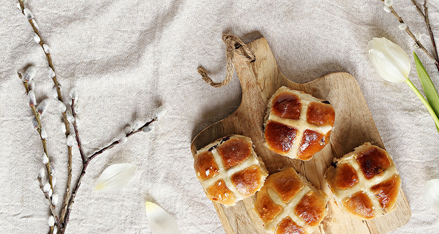 Bariatric vanilla protein Protein Boosted Hot X Buns recipe