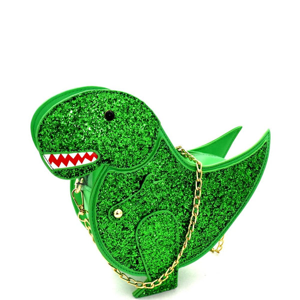 Glittery Dinosaur Theme Novelty Cross Body bag