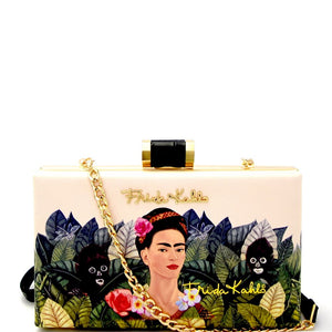 Authentic Frida Kahlo Jungle Series Frame Hard Clutch