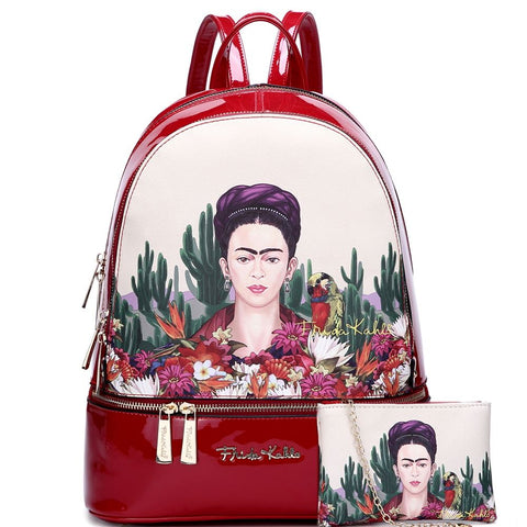 Authentic Frida Kahlo Cactus Series 2 in 1 Fashion Backpack