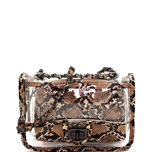 Snake Print Transparent Clear 2 in 1 Shoulder Bag