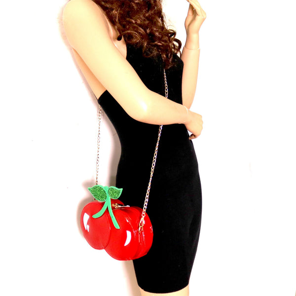 Unique Cherry Theme Novelty Cross Body bag