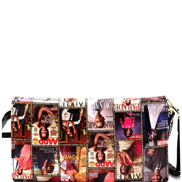Michelle Obama Magazine Print Smartphone Friendly Wallet CrossBody