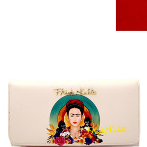 Authentic Frida Kahlo with Monkeys Checkbook Wallet