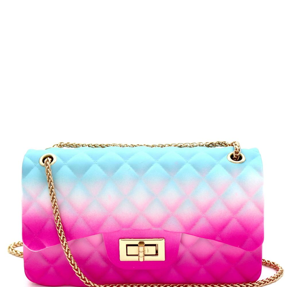 Multicolored Jelly 2-Way Medium Shoulder Bag