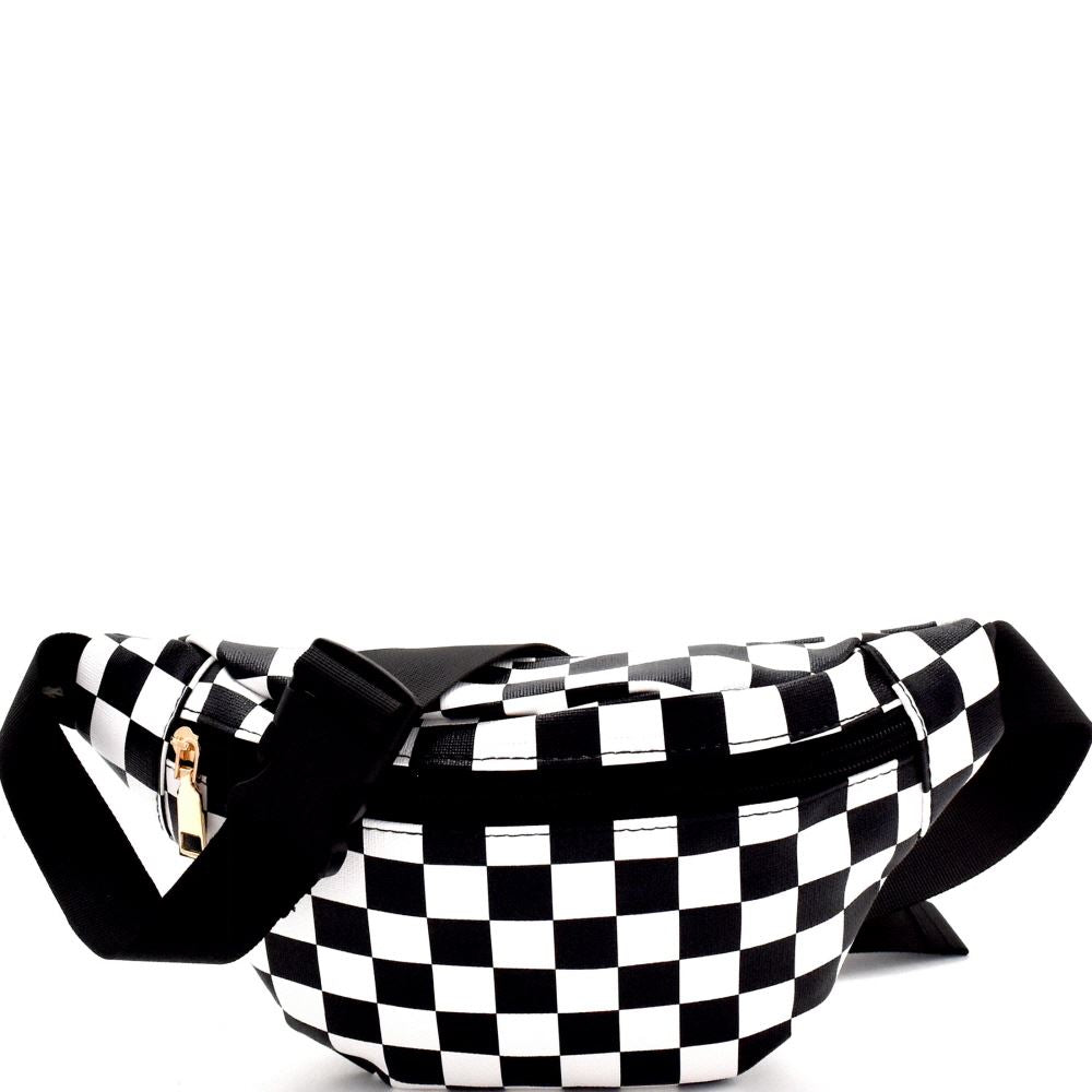Checker Print Fashion Fanny Pack Belt Bag