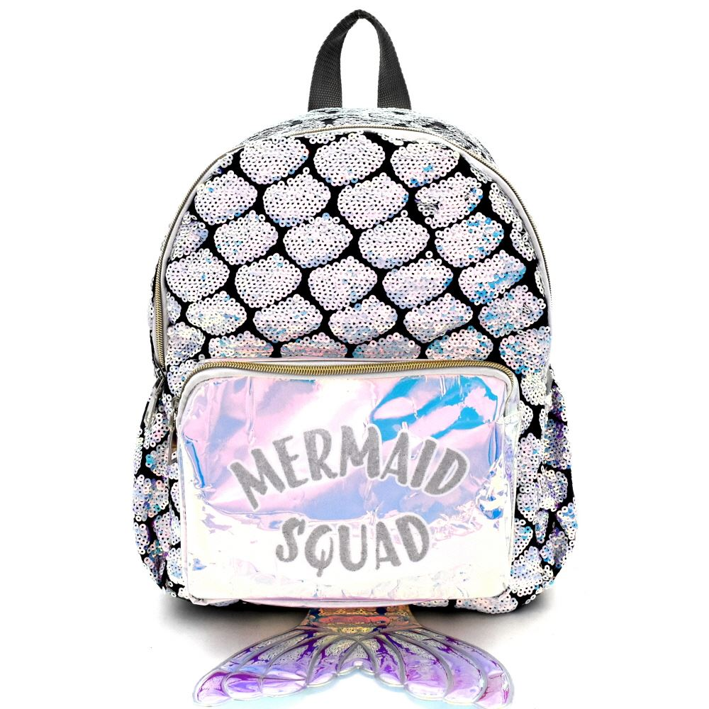 Mermaid Theme Sequin Novelty Backpack