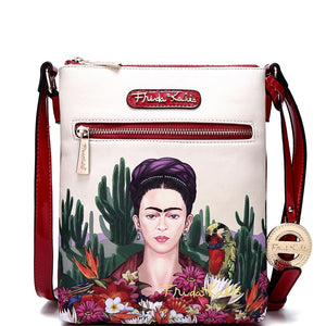Authentic Frida Kahlo Cactus Series Compartment Cross Body
