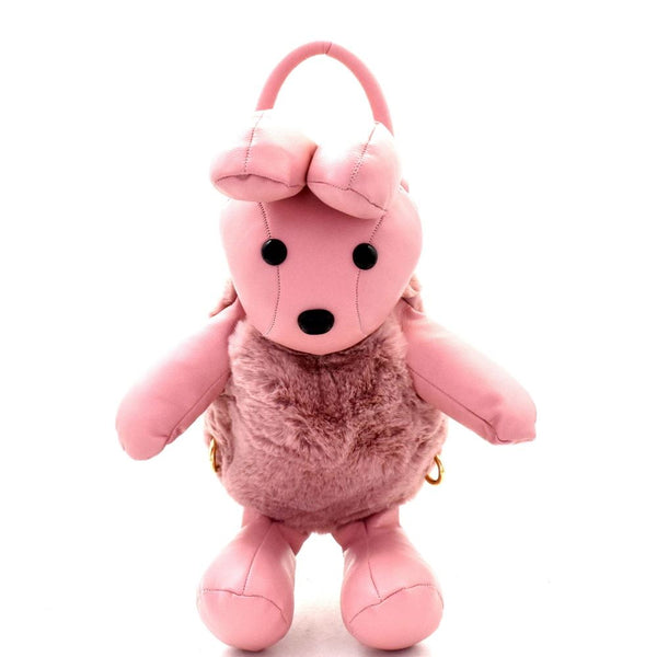 Faux-Fur Bunny Doll Novelty Convertible Backpack
