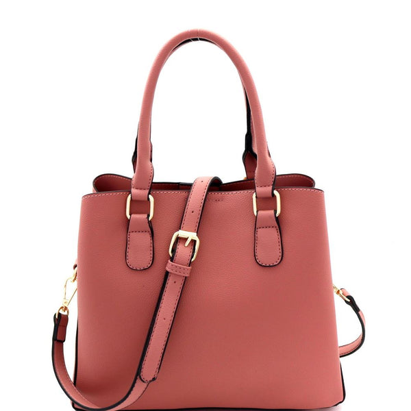 Multi-Compartment Classy 2-Way PU Leather Satchel Bag