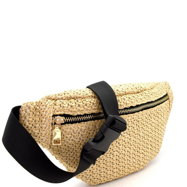Woven Straw Fashion Fanny Pack Pack Belt Bag