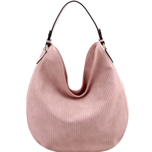 Perforated Single Strap Round Hobo Bag