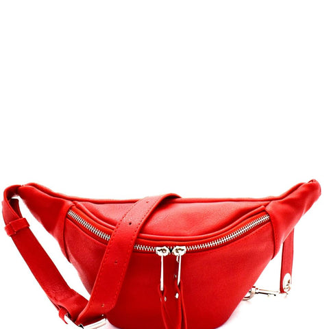 Silver-Tone Hardware Fashion Fanny Pack