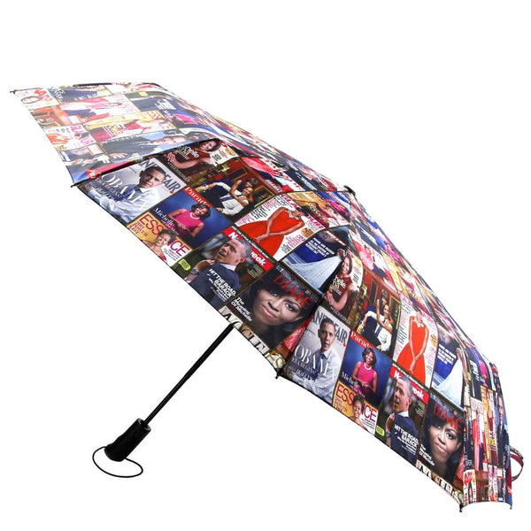 Michelle Obama Magazine Print Retractable Umbrella