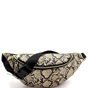 Snake Print Fashion Fanny Pack Belt Bag