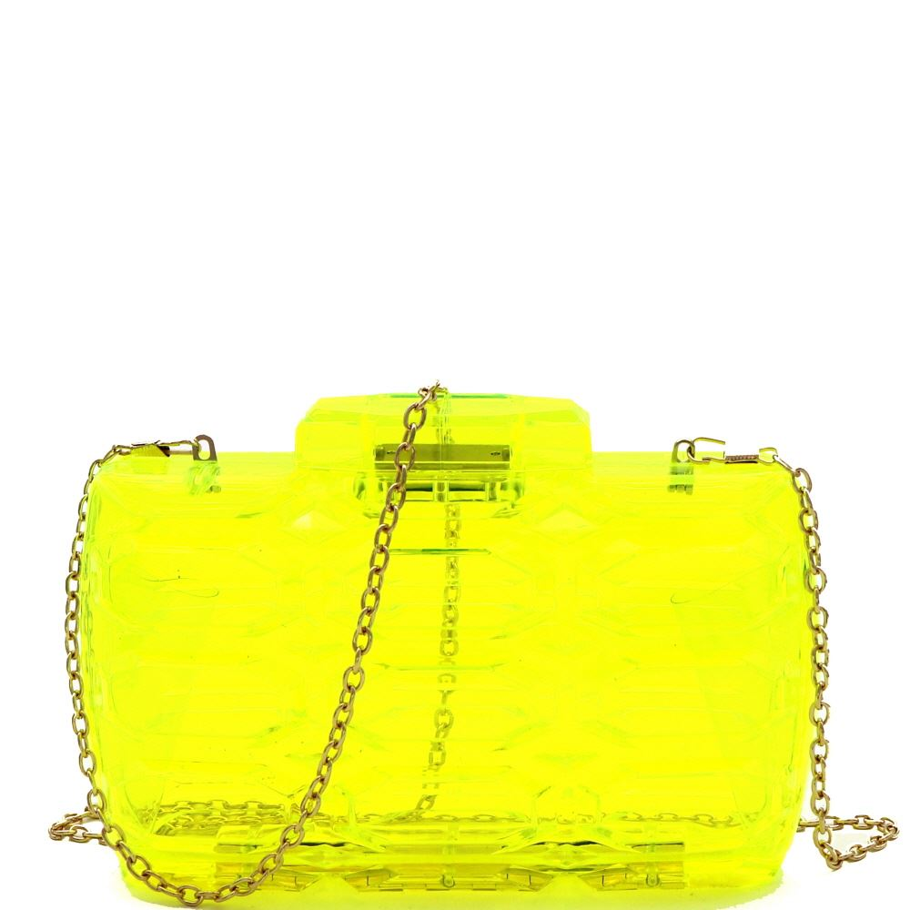 Transparent Clear Acrylic Hard Evening Clutch