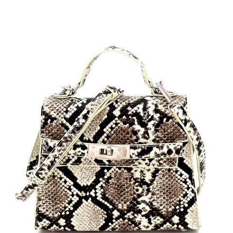 Glow in the Dark Luminescent Snake Print Medium Satchel