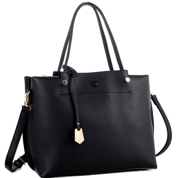 Multi Compartment Classy 2 Way Satchel Purse