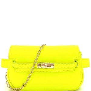 56466c1cb73a0 Turn-Lock Accent 2-Way Neon Fanny Pack Cross Body Bag – Trendeology