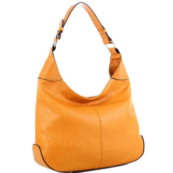 Smooth and Soft Texture PU Leather Classy Single Strap Simple Hobo Purse Shoulder Bag