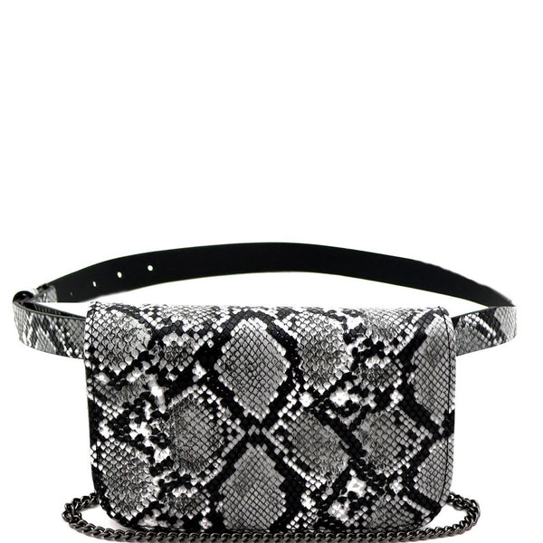 Snake Print 2 Way Fanny Pack Crossbody