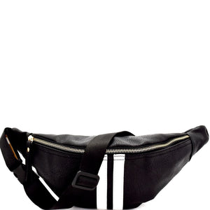 Center Striped Fashion Fanny Pack