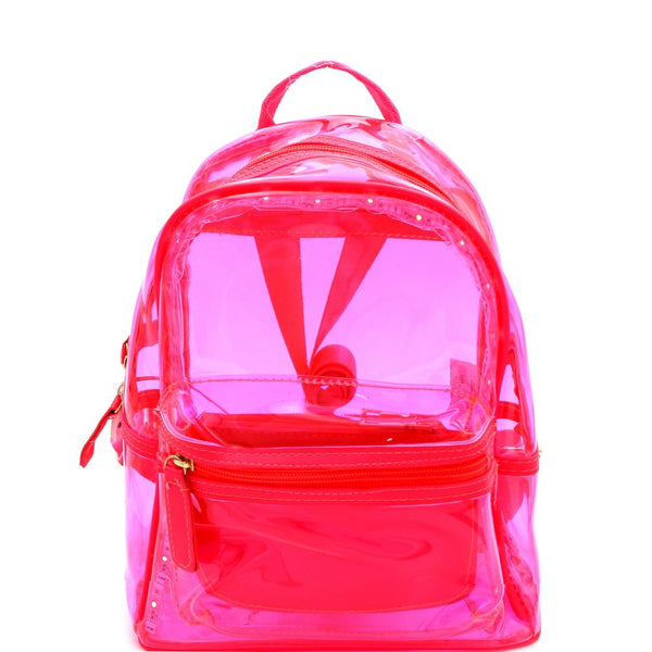 Neon Clear LED Light-Up Medium Fashion Backpack