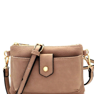 Versatile Cellphone Compartment PU Leather CrossBody Bag
