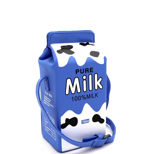 Unique Pure Milk Carton Figure Novelty Cross Body