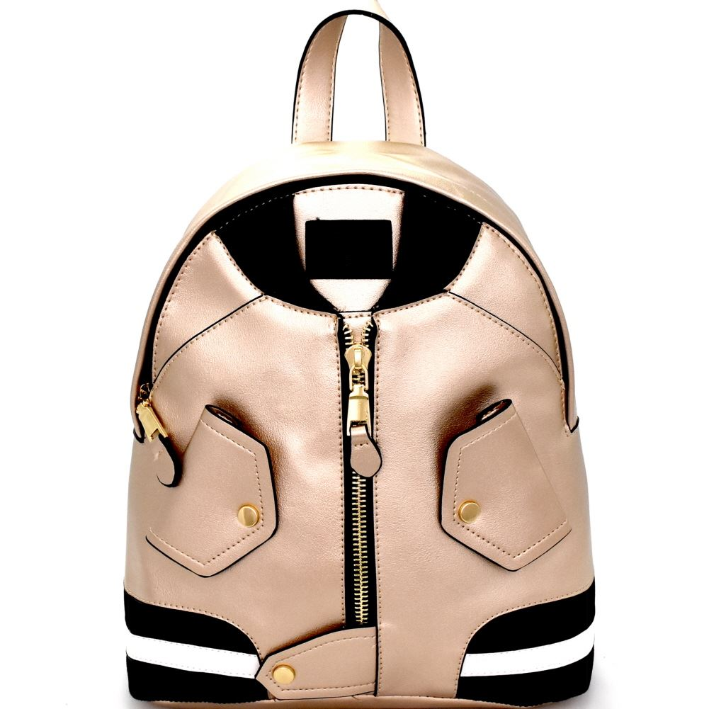 Unique Bomber Jacket Theme Novelty Fashion Backpack
