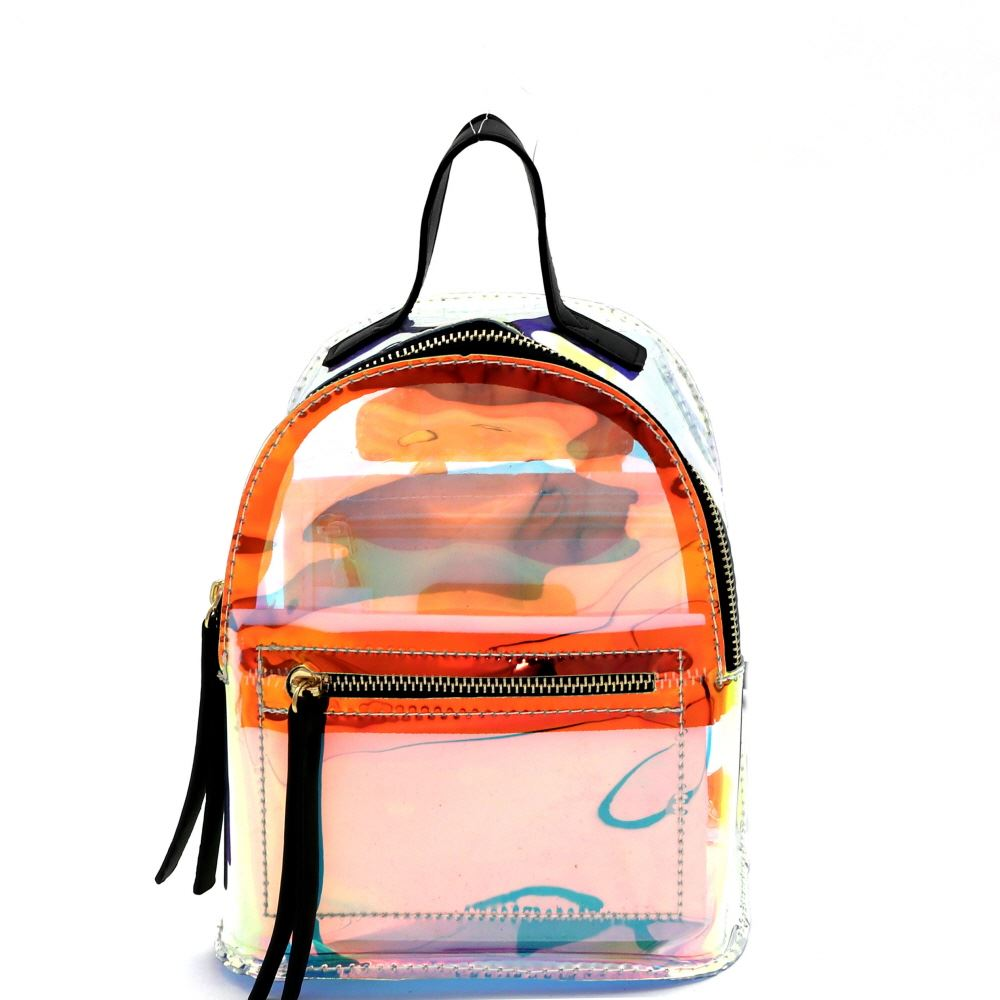 Hologram Transparent Clear Medium Fashion Backpack