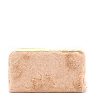 Faux Fur Zip-Around Wallet