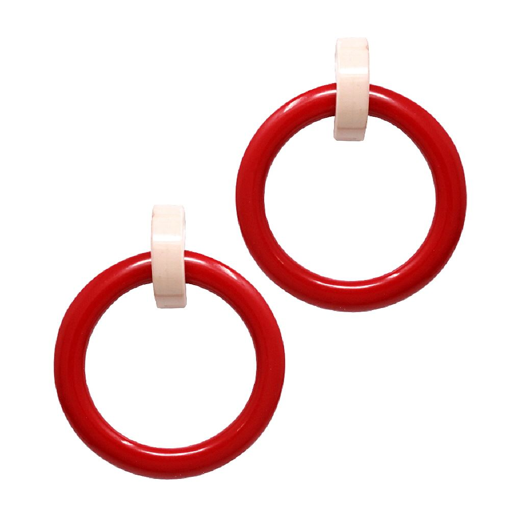 Pop Color Combination Funky Oversized Hoop Earring