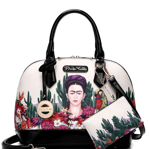 Authentic Frida Kahlo Cactus Series 2 in 1 Dome Satchel Bag