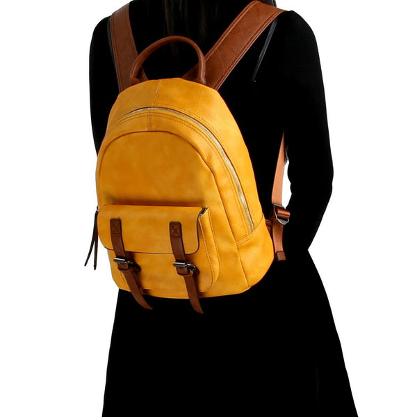 CHILLX Buckle Accent Fashion Backpack